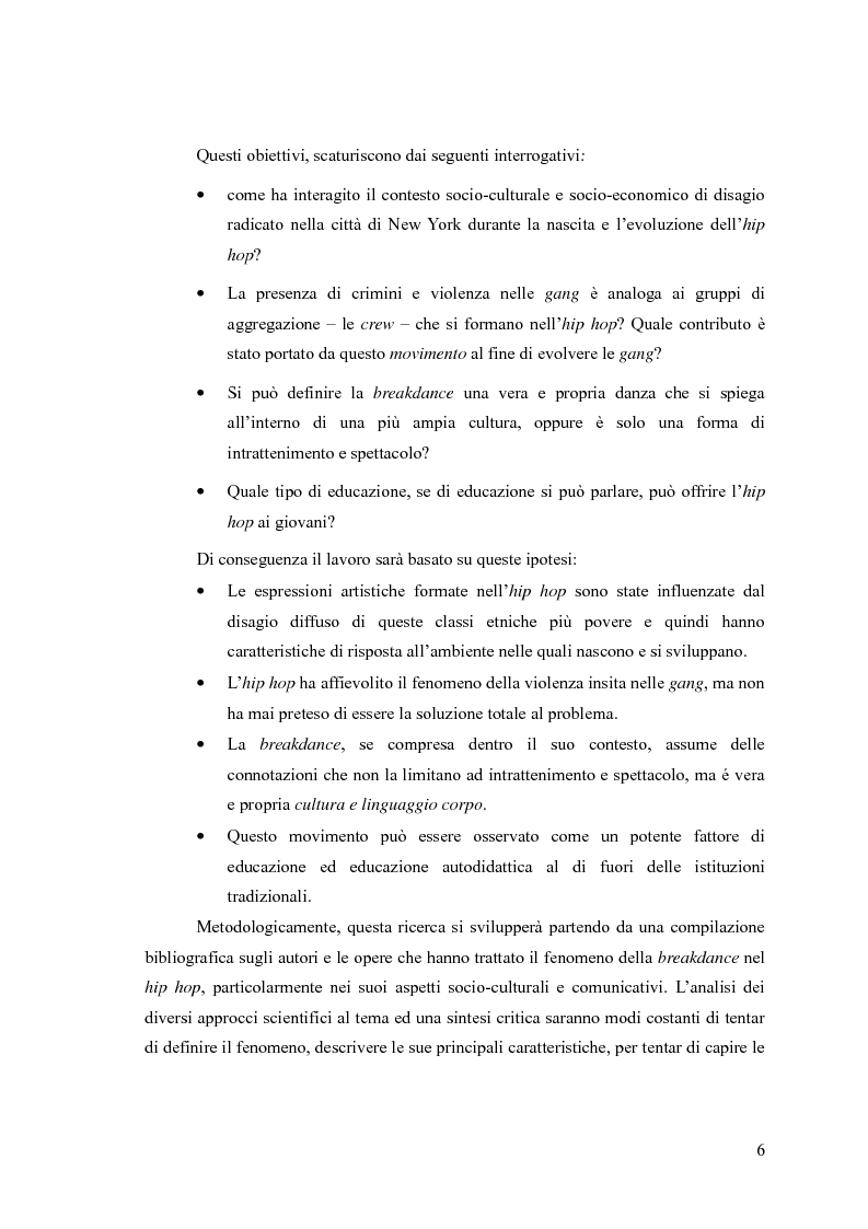 Anteprima della tesi: La breakdance, un linguaggio del corpo nell'hip hop, Pagina 5