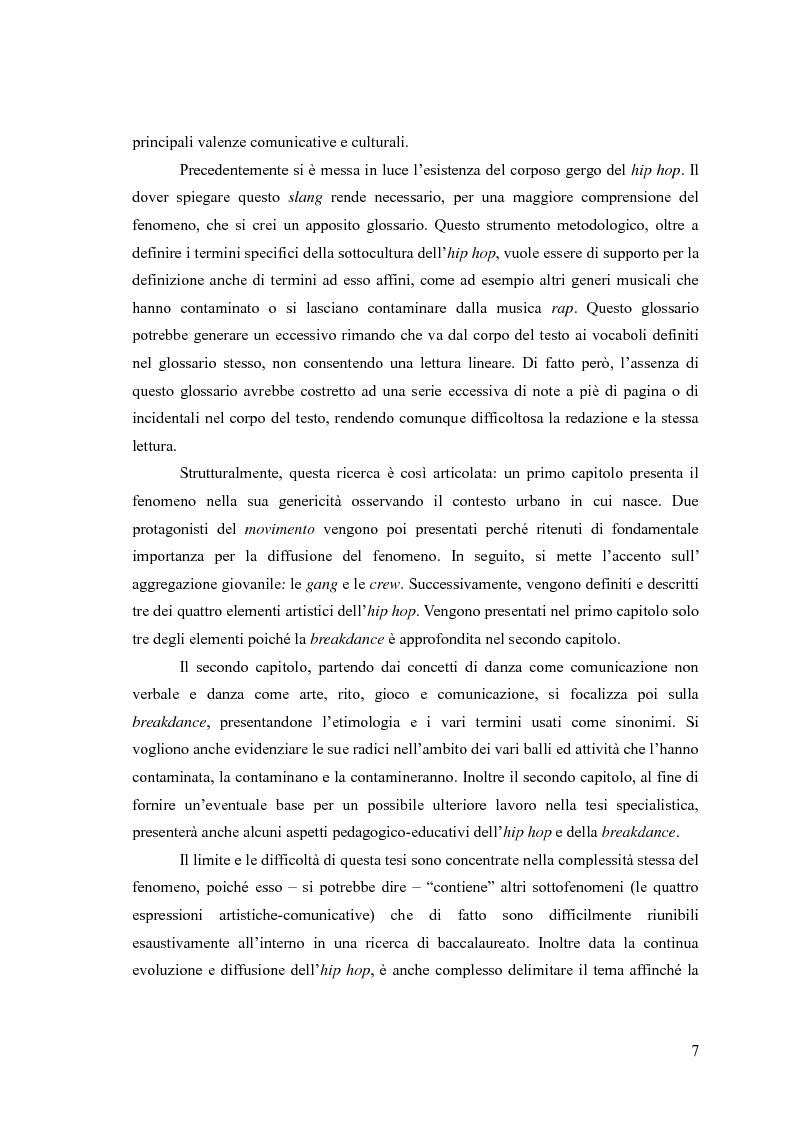 Anteprima della tesi: La breakdance, un linguaggio del corpo nell'hip hop, Pagina 6