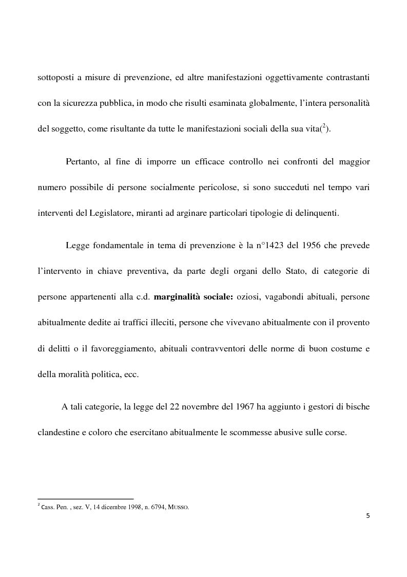 Anteprima della tesi: La confisca dei beni nei procedimenti per i reati di criminalità organizzata, Pagina 2