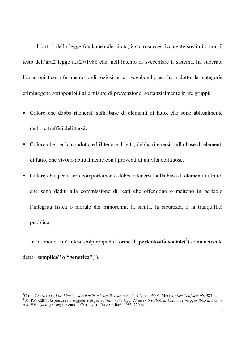 Anteprima della tesi: La confisca dei beni nei procedimenti per i reati di criminalità organizzata, Pagina 3