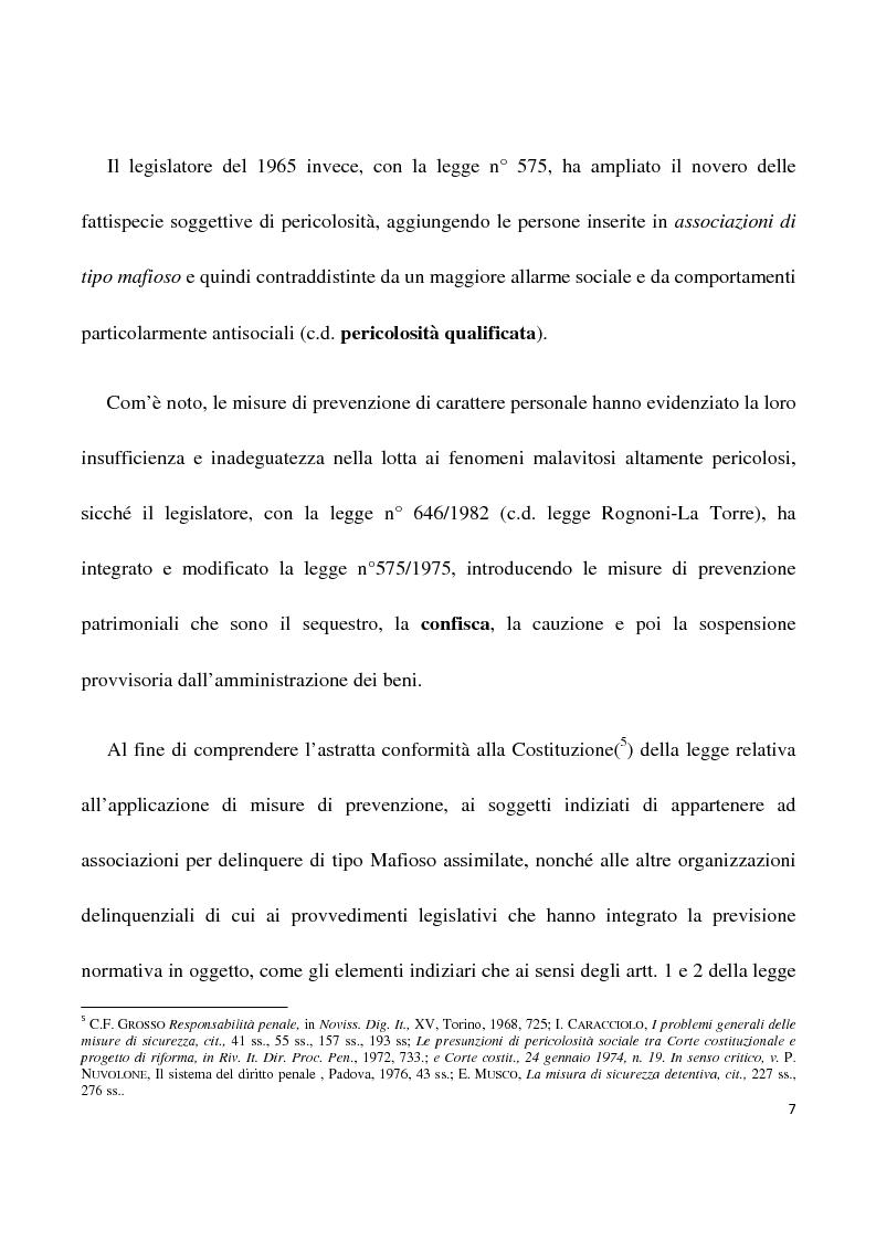 Anteprima della tesi: La confisca dei beni nei procedimenti per i reati di criminalità organizzata, Pagina 4