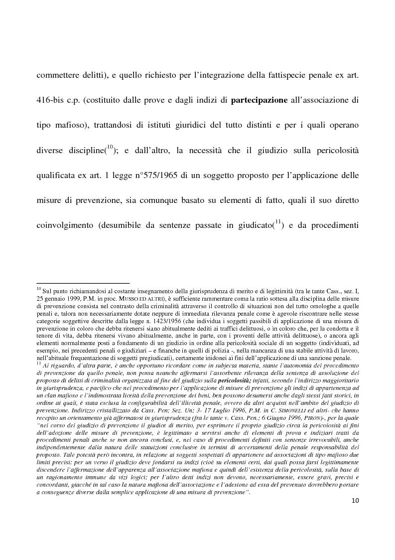 Anteprima della tesi: La confisca dei beni nei procedimenti per i reati di criminalità organizzata, Pagina 7