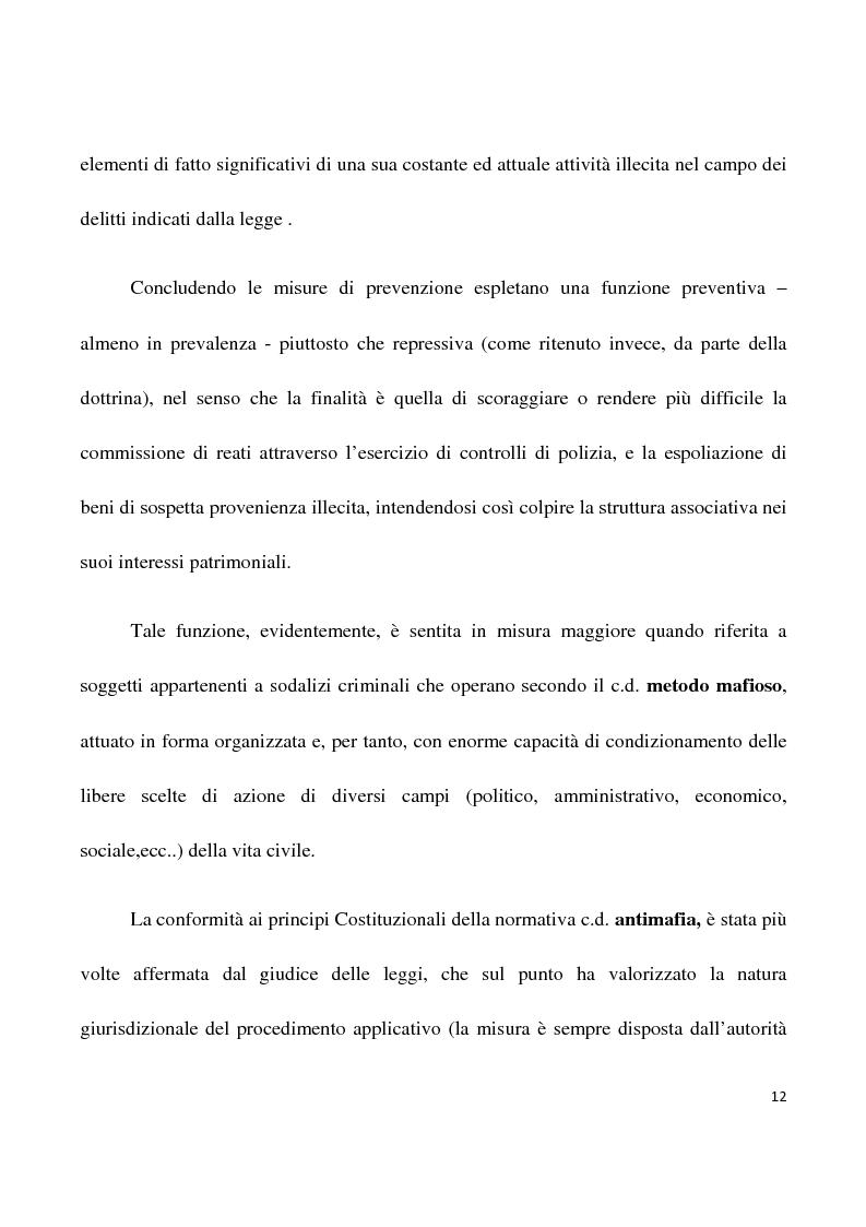 Anteprima della tesi: La confisca dei beni nei procedimenti per i reati di criminalità organizzata, Pagina 9