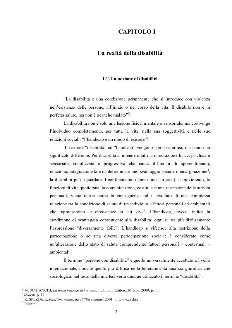 Anteprima della tesi: Il diritto al rispetto della vita familiare delle persone disabili , Pagina 2