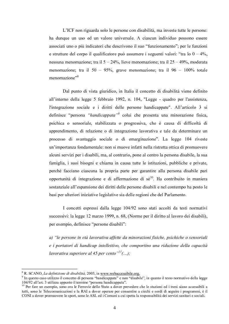 Anteprima della tesi: Il diritto al rispetto della vita familiare delle persone disabili , Pagina 4