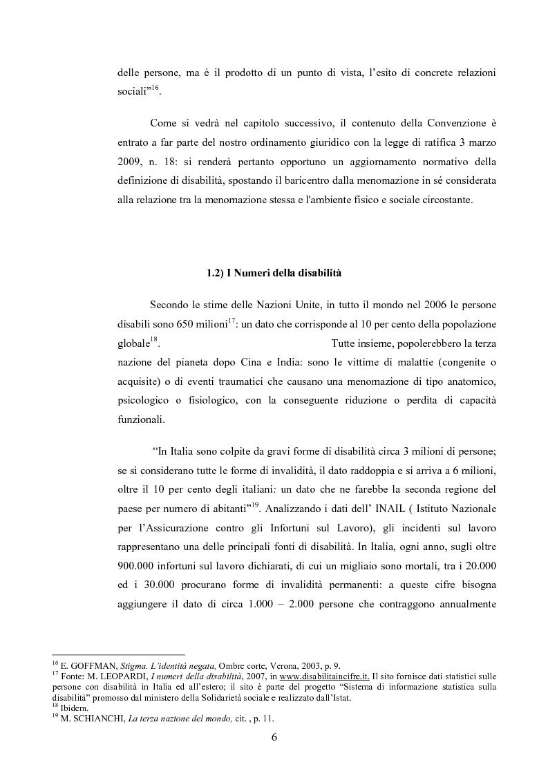 Anteprima della tesi: Il diritto al rispetto della vita familiare delle persone disabili , Pagina 6