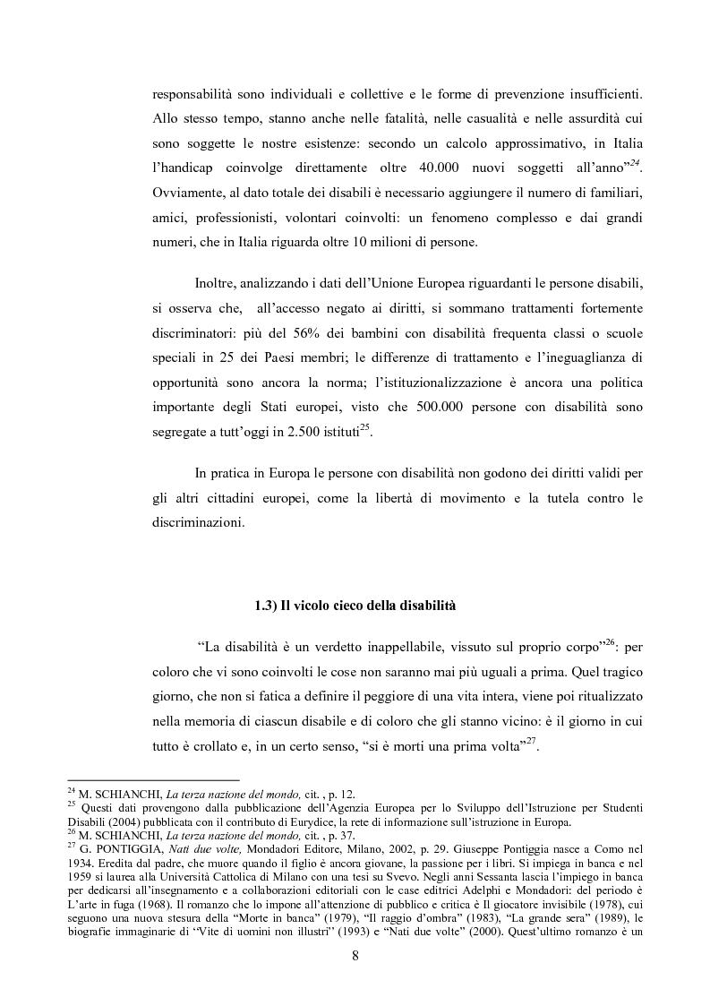 Anteprima della tesi: Il diritto al rispetto della vita familiare delle persone disabili , Pagina 8