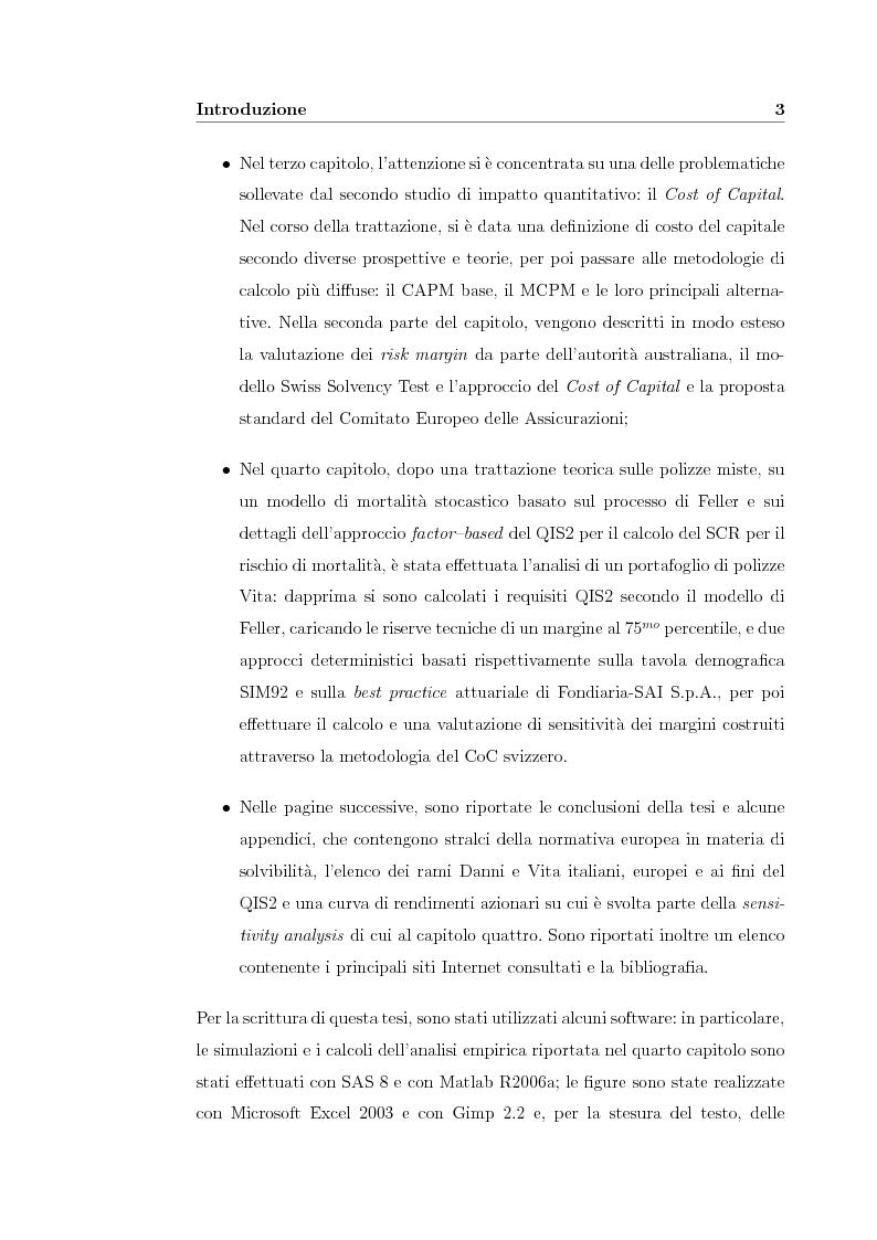 Anteprima della tesi: Verso Solvency II: gli studi di impatto quantitativo e la tematica del costo del capitale, Pagina 3