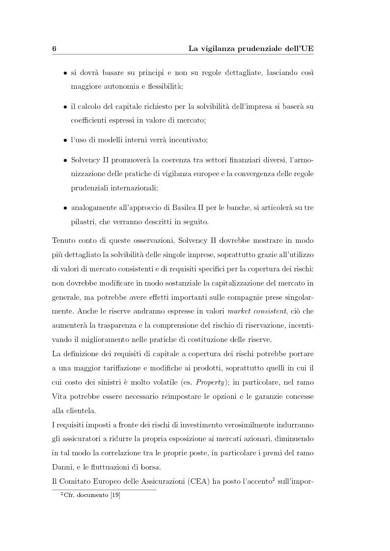 Anteprima della tesi: Verso Solvency II: gli studi di impatto quantitativo e la tematica del costo del capitale, Pagina 6