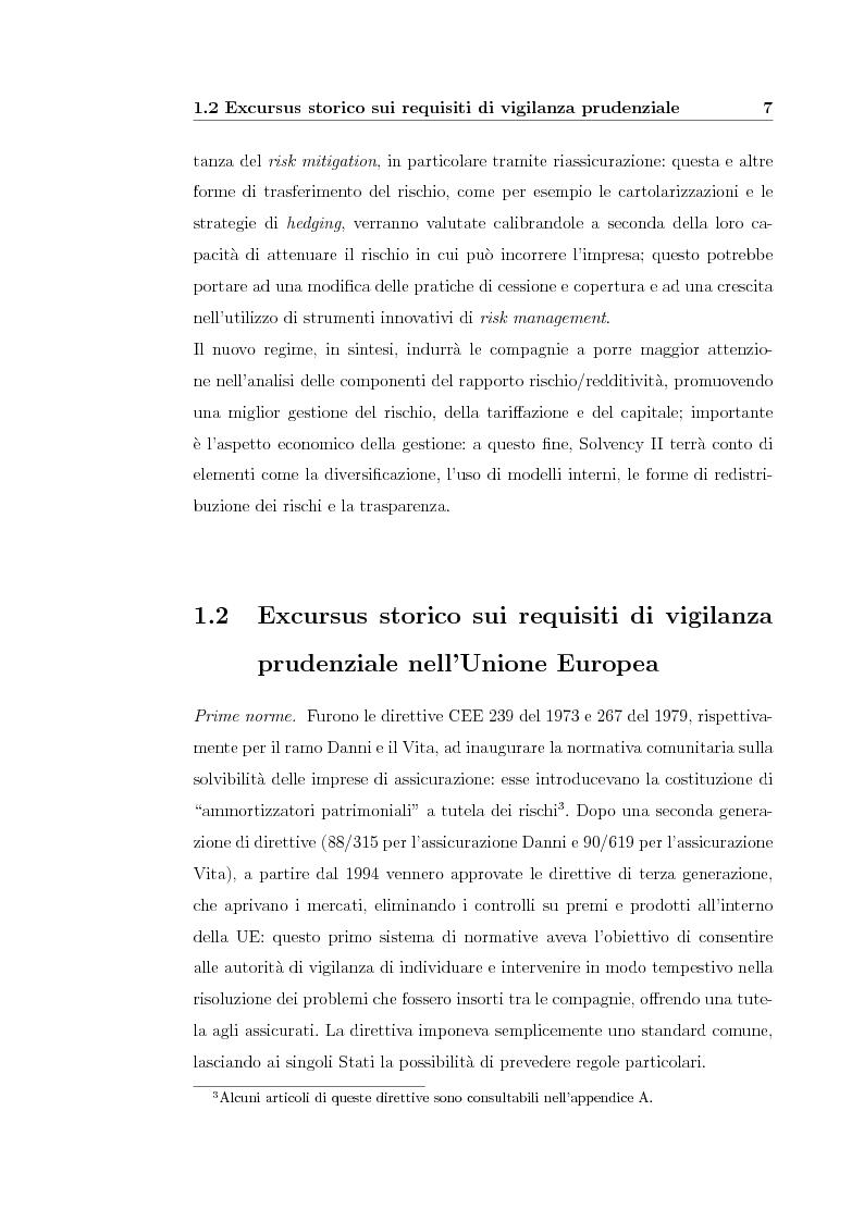 Anteprima della tesi: Verso Solvency II: gli studi di impatto quantitativo e la tematica del costo del capitale, Pagina 7