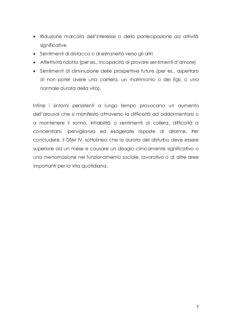 Anteprima della tesi: Esperienze pregresse di abuso sessuale e disturbi alimentari, Pagina 5