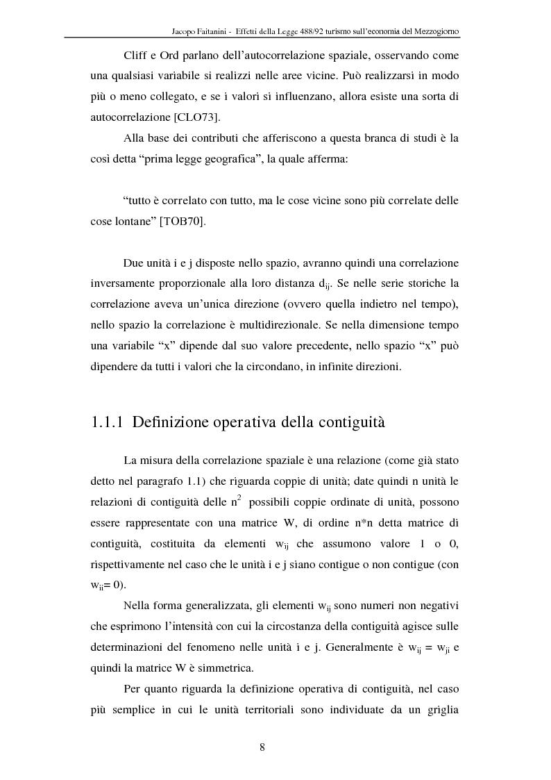 Anteprima della tesi: Effetti della legge 488/92 Turismo nel Mezzogiorno, Pagina 6