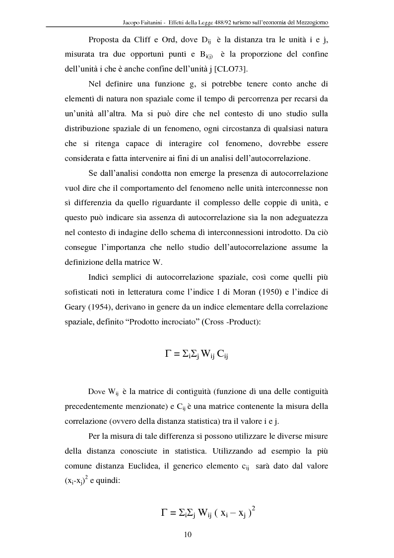 Anteprima della tesi: Effetti della legge 488/92 Turismo nel Mezzogiorno, Pagina 8