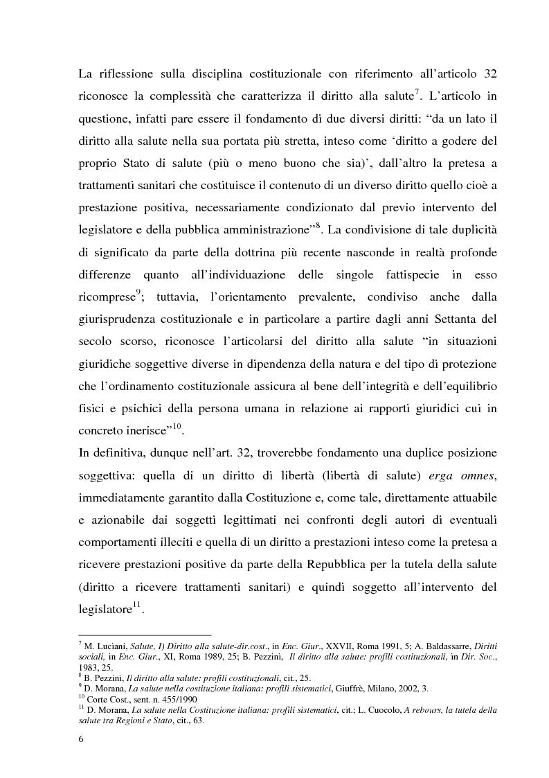 Anteprima della tesi: La tutela della salute nell'ordinamento multilivello. Nuovi modelli di Welfare per l'attuazione della riforma del Titolo V della Costituzione., Pagina 4