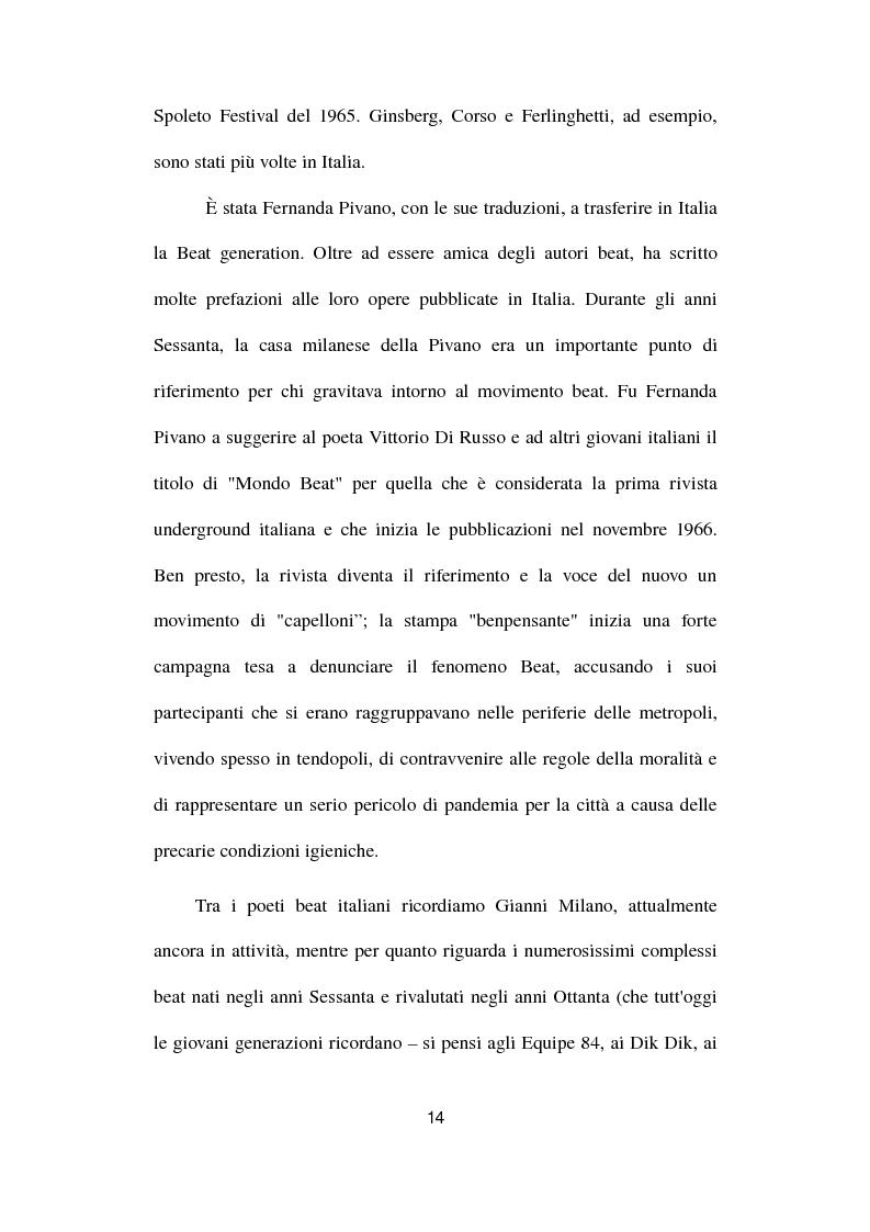 Anteprima della tesi: Gianni e Gli Avvoltoi - Reinventare il Beat nel Terzo Millennio, Pagina 8