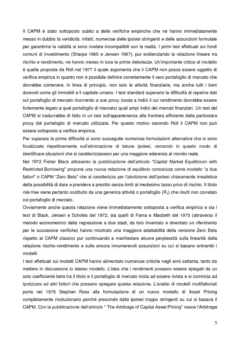 Anteprima della tesi: La liquidità nei modelli di asset pricing, Pagina 3