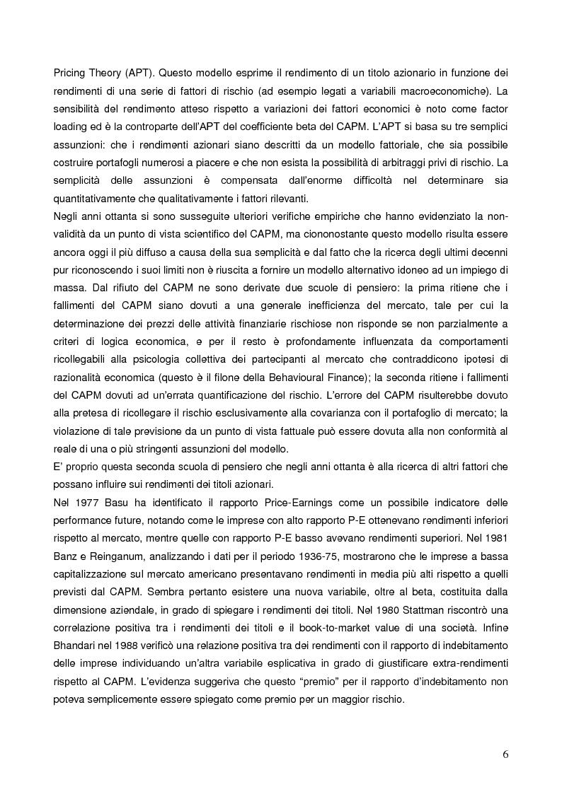 Anteprima della tesi: La liquidità nei modelli di asset pricing, Pagina 4