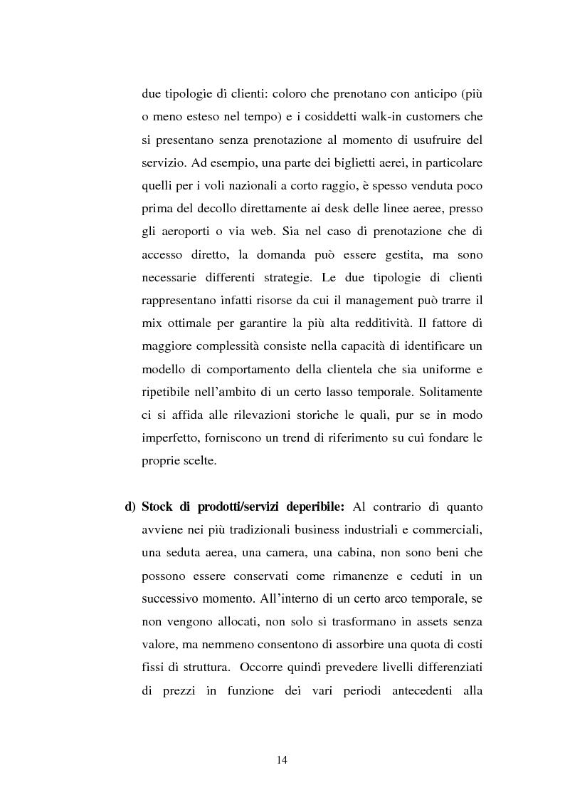 Anteprima della tesi: Lo Yield Management nel settore turistico ricettivo: il caso Hotel da Vinci, Pagina 11