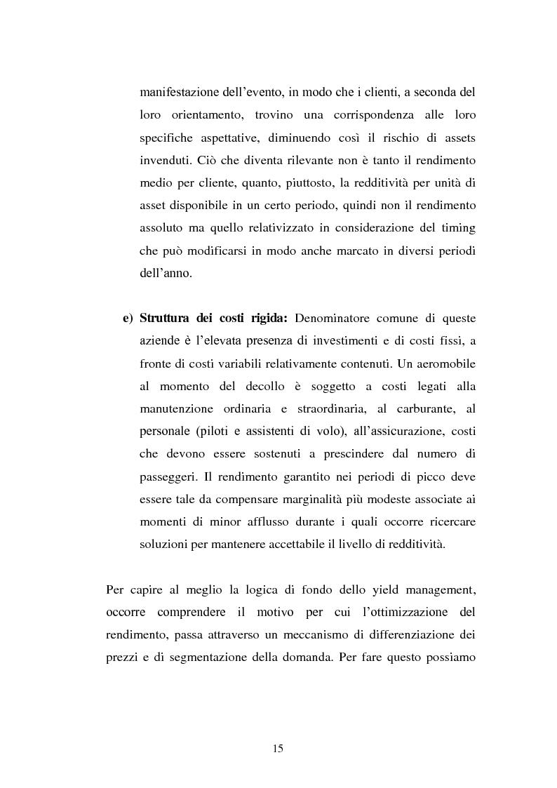 Anteprima della tesi: Lo Yield Management nel settore turistico ricettivo: il caso Hotel da Vinci, Pagina 12
