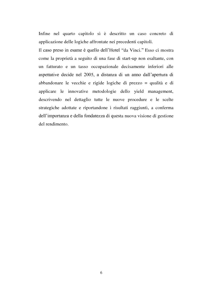 Anteprima della tesi: Lo Yield Management nel settore turistico ricettivo: il caso Hotel da Vinci, Pagina 3