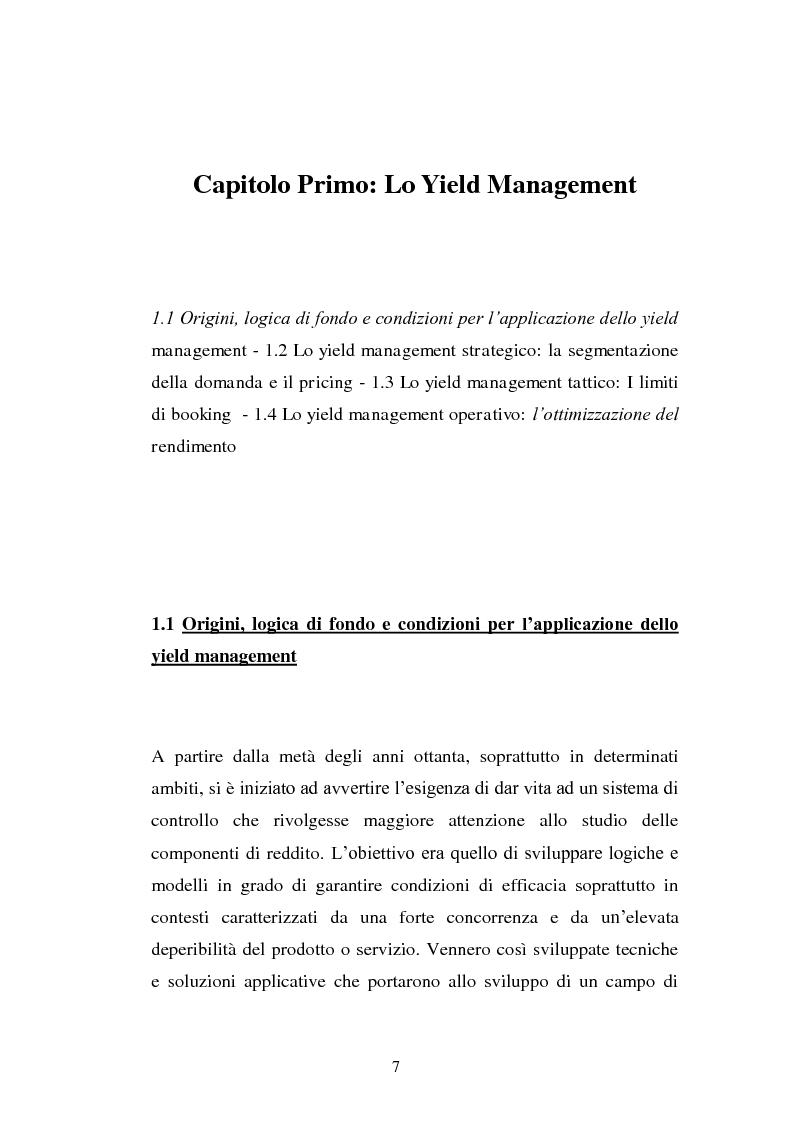 Anteprima della tesi: Lo Yield Management nel settore turistico ricettivo: il caso Hotel da Vinci, Pagina 4