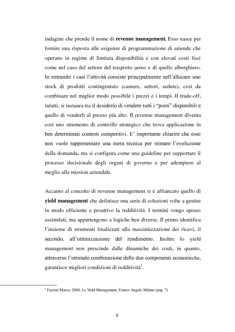 Anteprima della tesi: Lo Yield Management nel settore turistico ricettivo: il caso Hotel da Vinci, Pagina 5