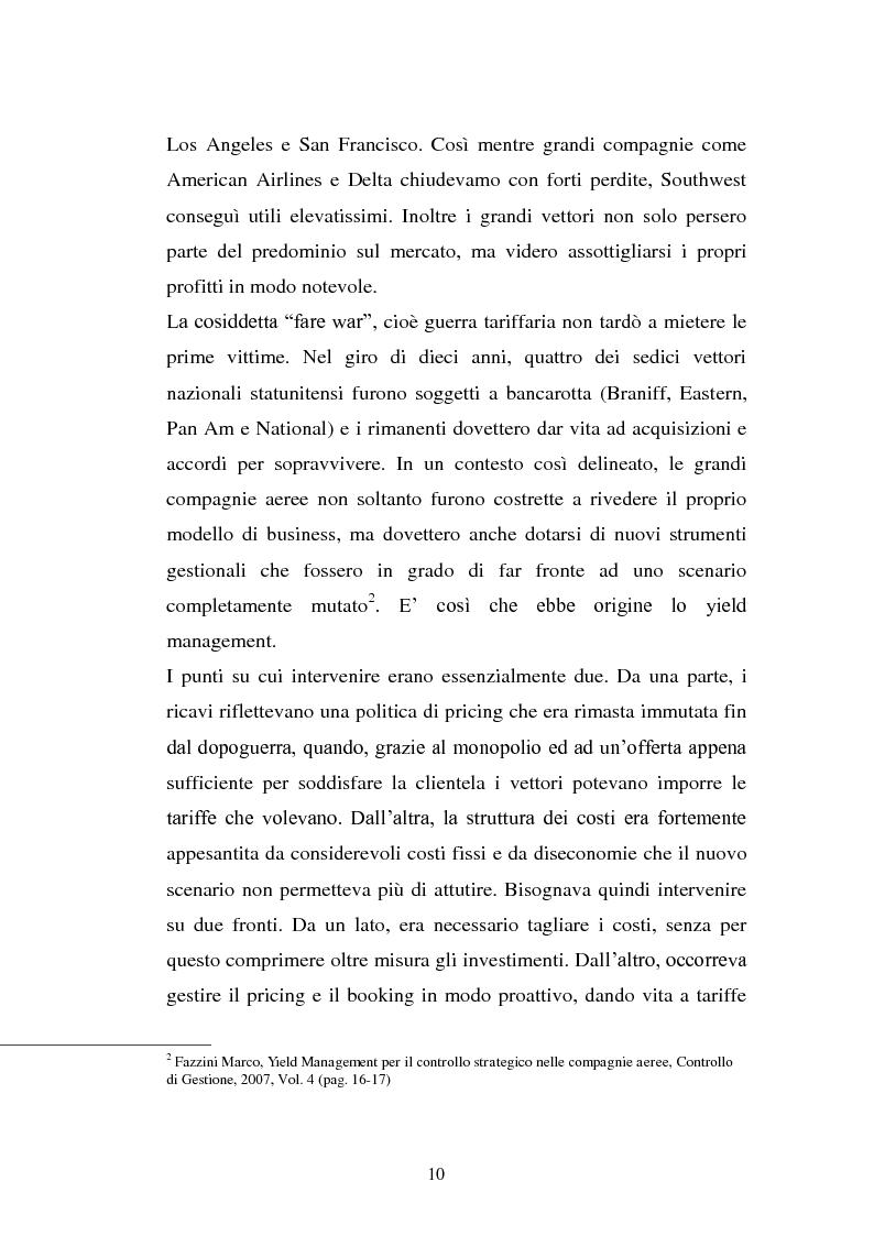Anteprima della tesi: Lo Yield Management nel settore turistico ricettivo: il caso Hotel da Vinci, Pagina 7