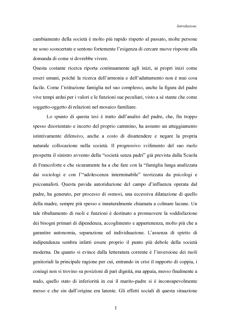 Anteprima della tesi: Il padre affidatario - Un percorso esplorativo tra nuovi assetti familiari e intrecci intergenerazionali, Pagina 2