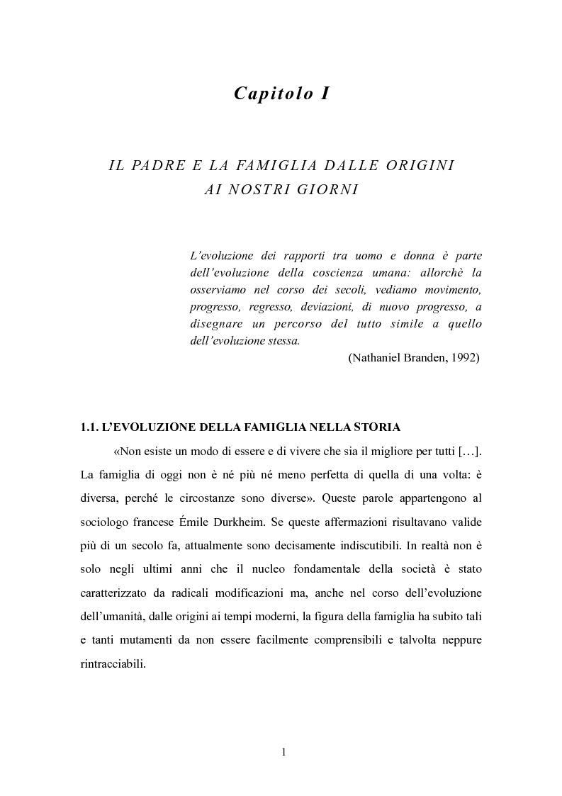 Anteprima della tesi: Il padre affidatario - Un percorso esplorativo tra nuovi assetti familiari e intrecci intergenerazionali, Pagina 5