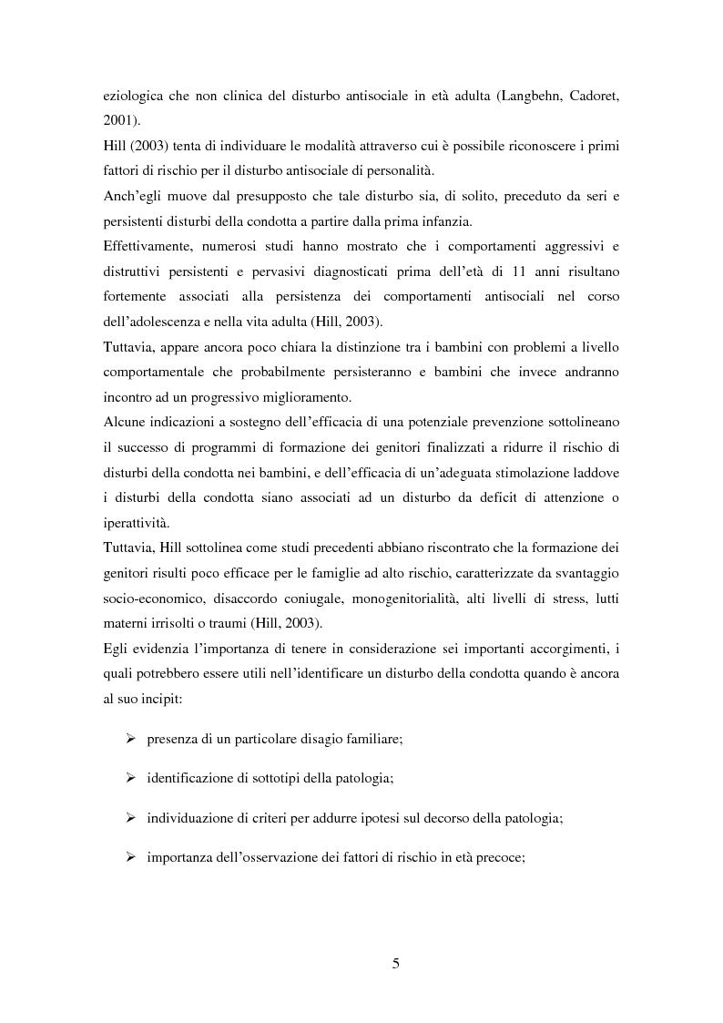 Anteprima della tesi: Disturbi del comportamento, fenomeni aggressivi e fattori di rischio. Un'indagine della corrispondenza tra letteratura e dati clinici di un'ASL del Piemonte., Pagina 10