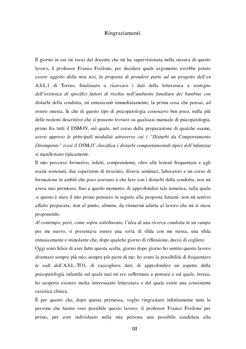 Anteprima della tesi: Disturbi del comportamento, fenomeni aggressivi e fattori di rischio. Un'indagine della corrispondenza tra letteratura e dati clinici di un'ASL del Piemonte., Pagina 3