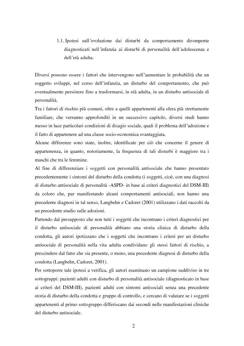 Anteprima della tesi: Disturbi del comportamento, fenomeni aggressivi e fattori di rischio. Un'indagine della corrispondenza tra letteratura e dati clinici di un'ASL del Piemonte., Pagina 7