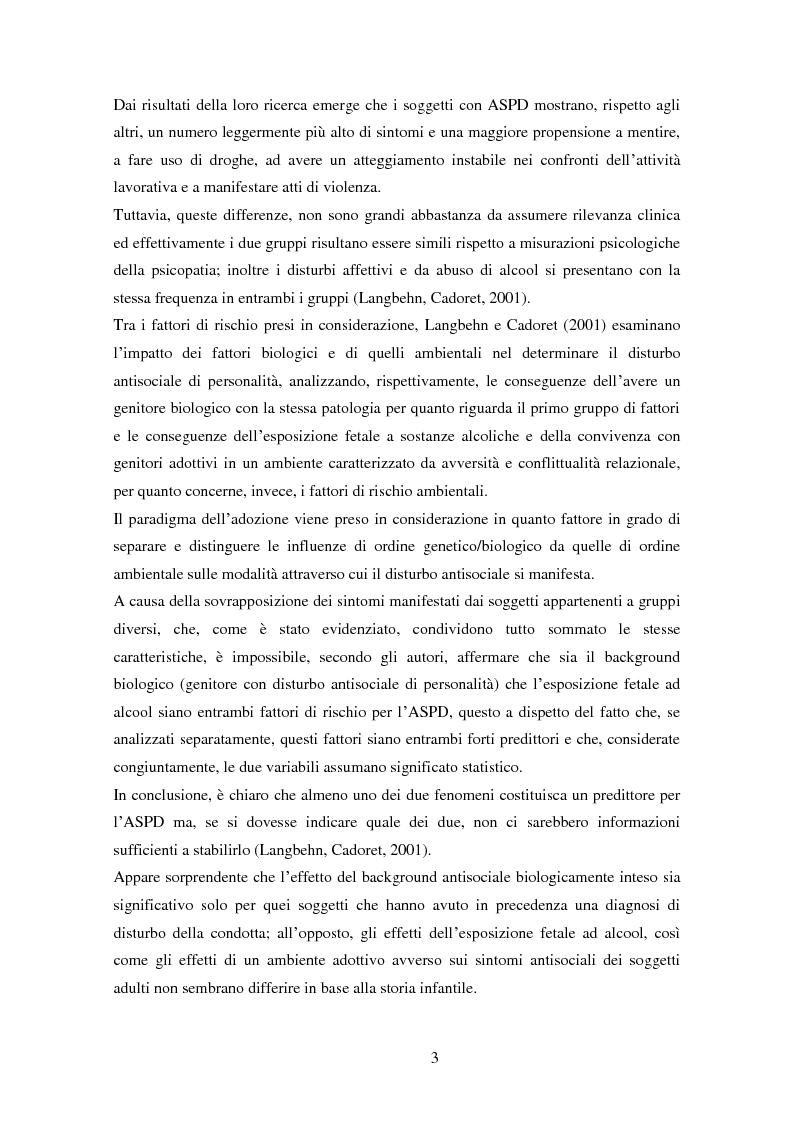 Anteprima della tesi: Disturbi del comportamento, fenomeni aggressivi e fattori di rischio. Un'indagine della corrispondenza tra letteratura e dati clinici di un'ASL del Piemonte., Pagina 8