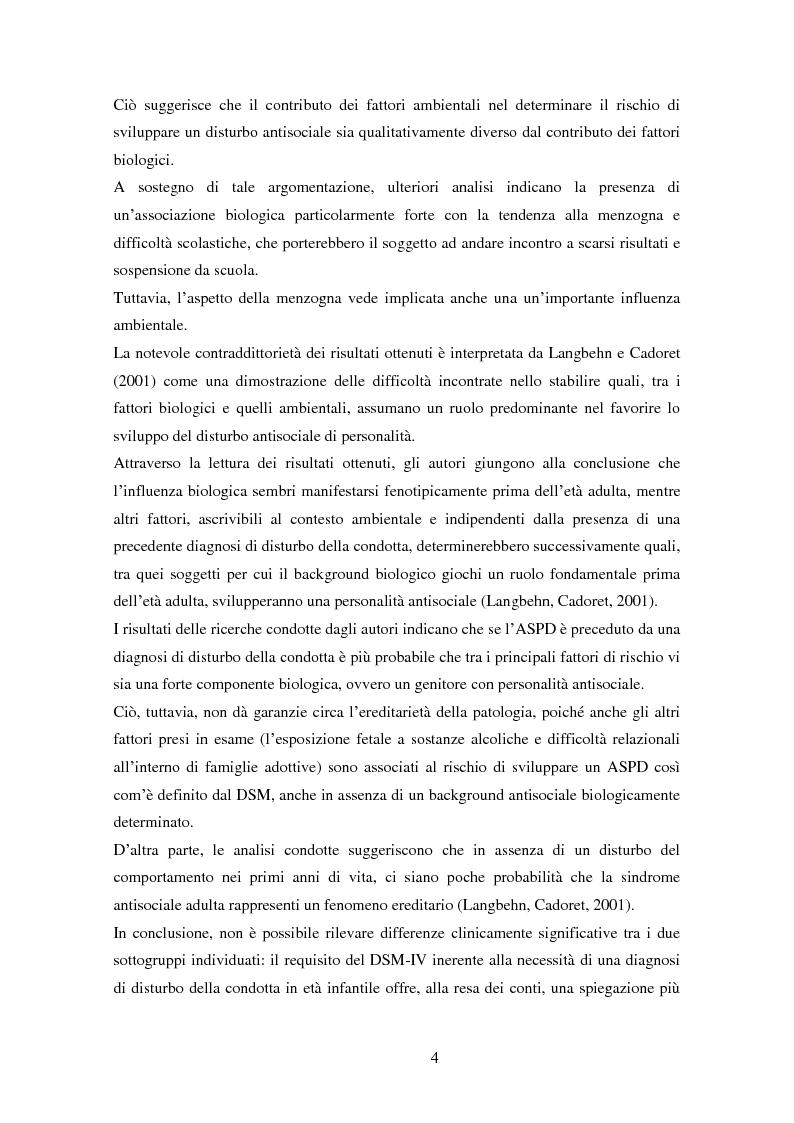 Anteprima della tesi: Disturbi del comportamento, fenomeni aggressivi e fattori di rischio. Un'indagine della corrispondenza tra letteratura e dati clinici di un'ASL del Piemonte., Pagina 9