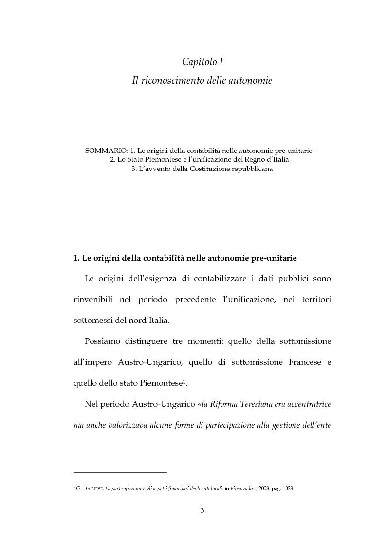 Anteprima della tesi: La decisione di bilancio negli Enti Locali, Pagina 1