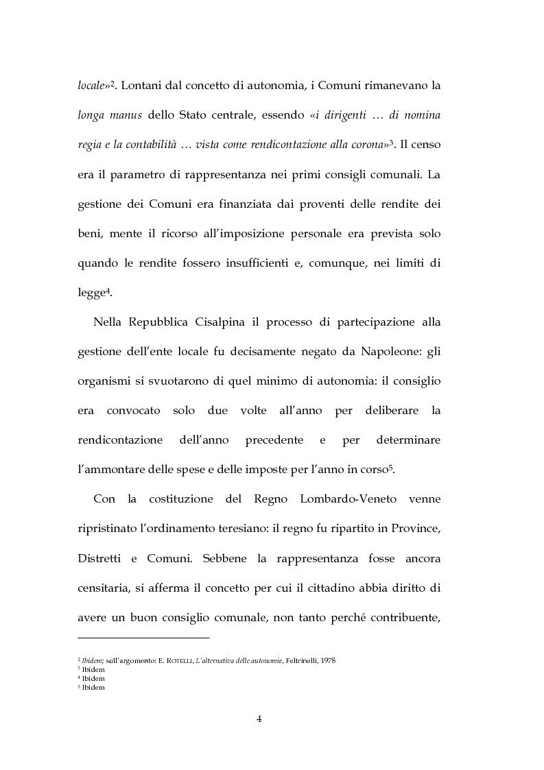 Anteprima della tesi: La decisione di bilancio negli Enti Locali, Pagina 2