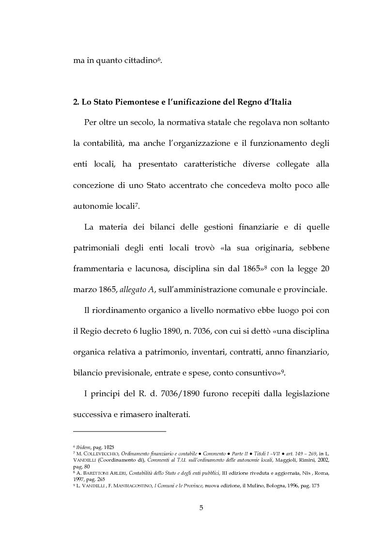 Anteprima della tesi: La decisione di bilancio negli Enti Locali, Pagina 3