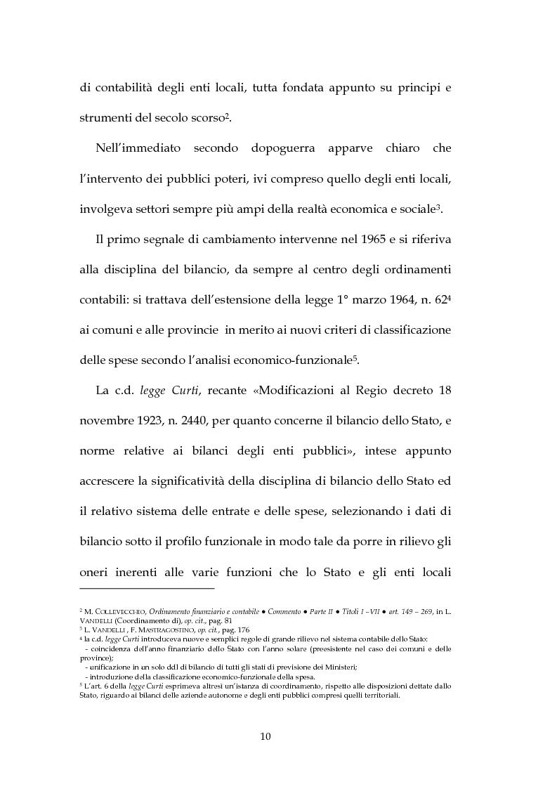 Anteprima della tesi: La decisione di bilancio negli Enti Locali, Pagina 8