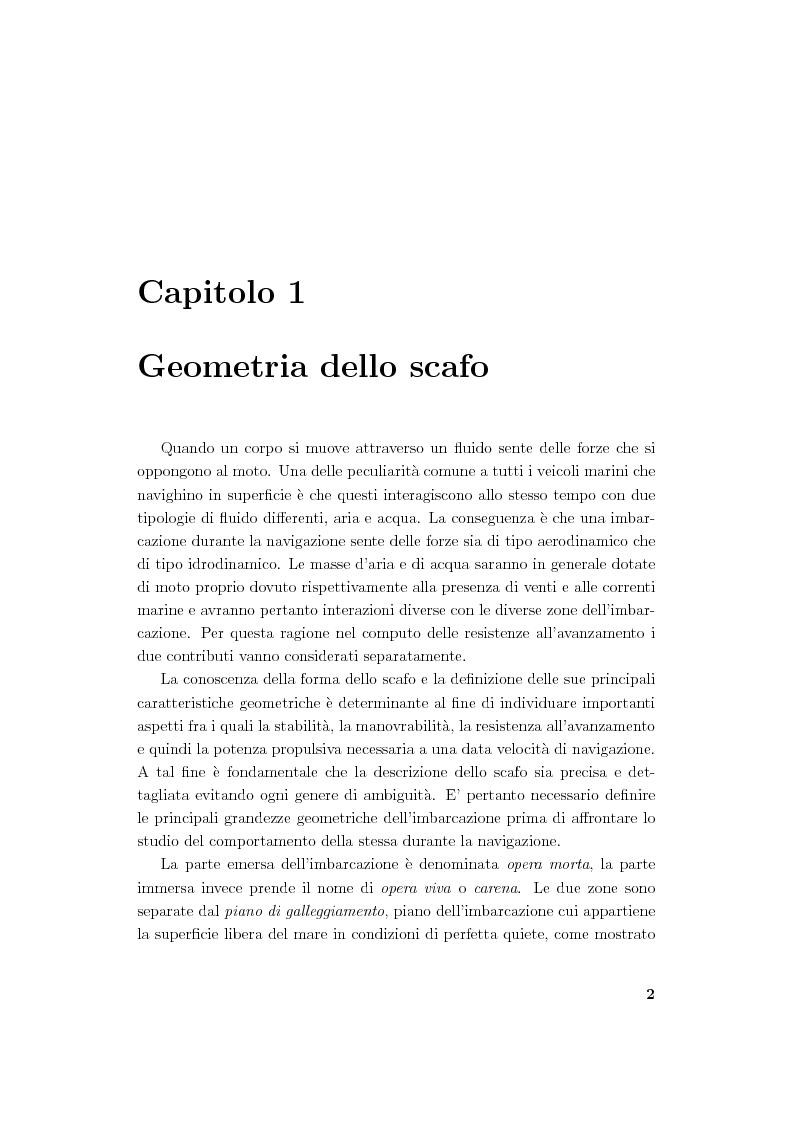Anteprima della tesi: Modellistica di carene e propulsori navali, Pagina 2