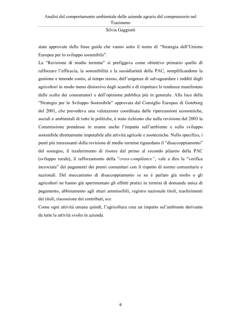 Anteprima della tesi: Analisi del comportamento ambientale delle aziende agrarie nel comprensorio del Trasimeno, Pagina 2