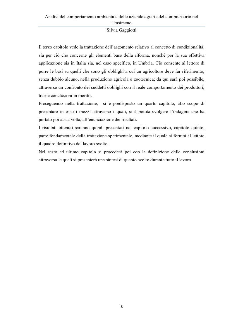Anteprima della tesi: Analisi del comportamento ambientale delle aziende agrarie nel comprensorio del Trasimeno, Pagina 4