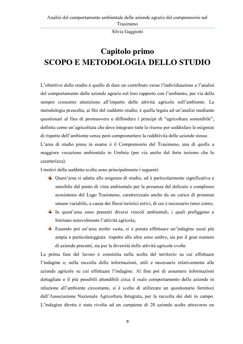 Anteprima della tesi: Analisi del comportamento ambientale delle aziende agrarie nel comprensorio del Trasimeno, Pagina 5