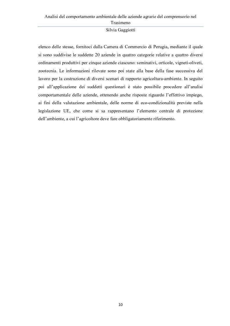 Anteprima della tesi: Analisi del comportamento ambientale delle aziende agrarie nel comprensorio del Trasimeno, Pagina 6