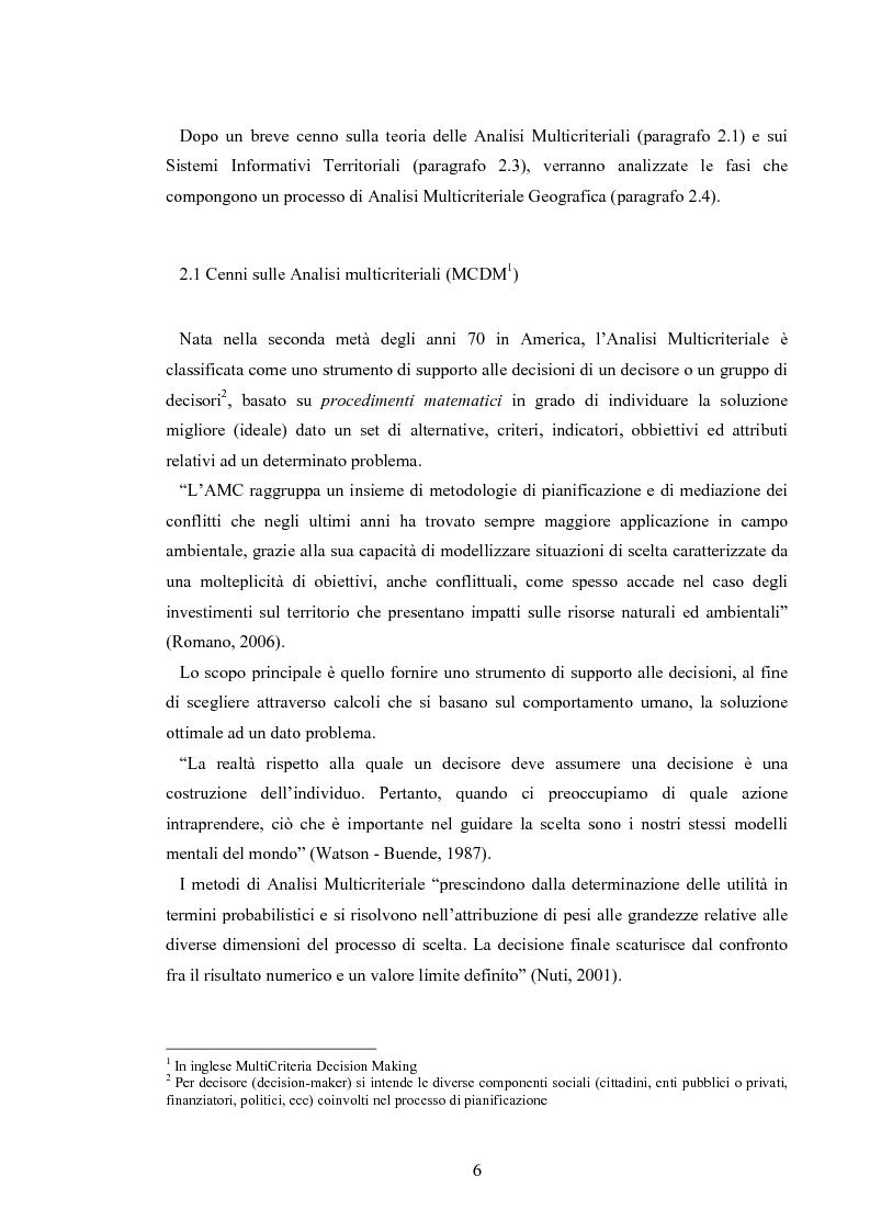 Anteprima della tesi: L'analisi multicriteriale geografica per lo studio della multifunzionalità: una applicazione al settore vitivinicolo, Pagina 6