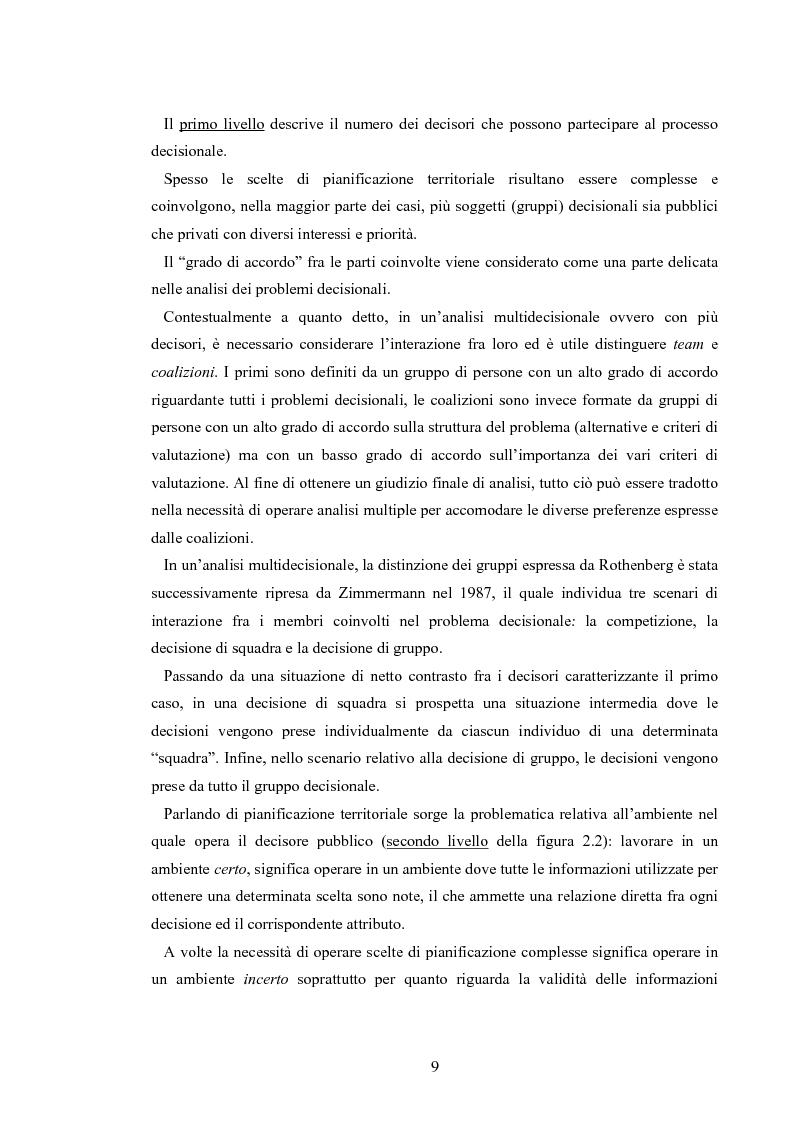 Anteprima della tesi: L'analisi multicriteriale geografica per lo studio della multifunzionalità: una applicazione al settore vitivinicolo, Pagina 9