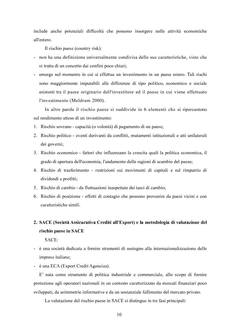 Anteprima della tesi: La valutazione del rischio paese: un'analisi dell'area Mediterranea, Pagina 2