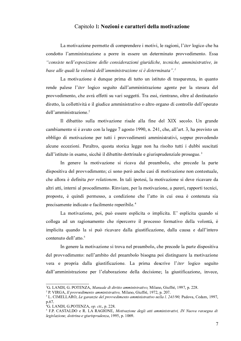 Anteprima della tesi: La motivazione del provvedimento amministrativo: evoluzione e prospettive, Pagina 3