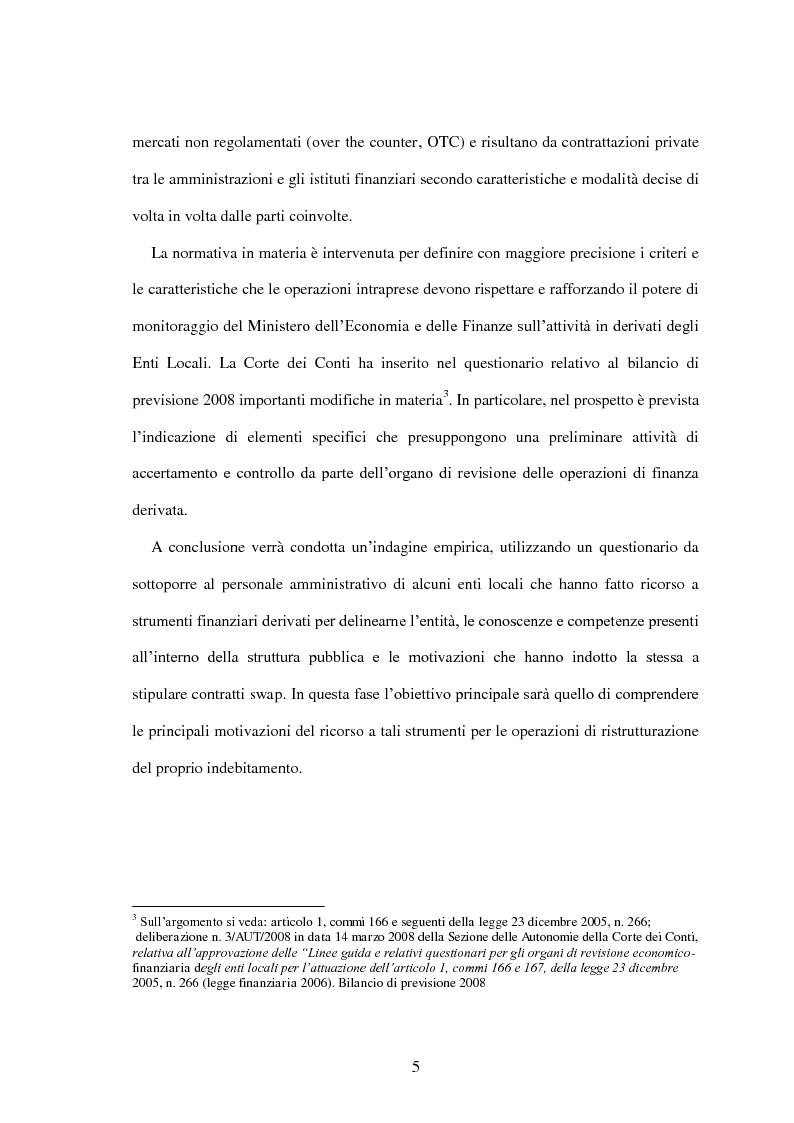 Anteprima della tesi: L'utilizzo dei derivati negli enti locali: opportunità e limiti, Pagina 3