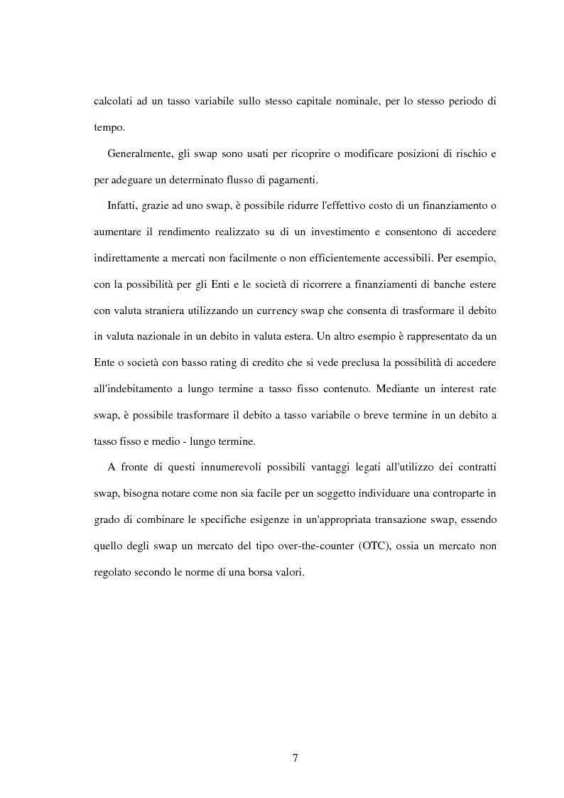 Anteprima della tesi: L'utilizzo dei derivati negli enti locali: opportunità e limiti, Pagina 5