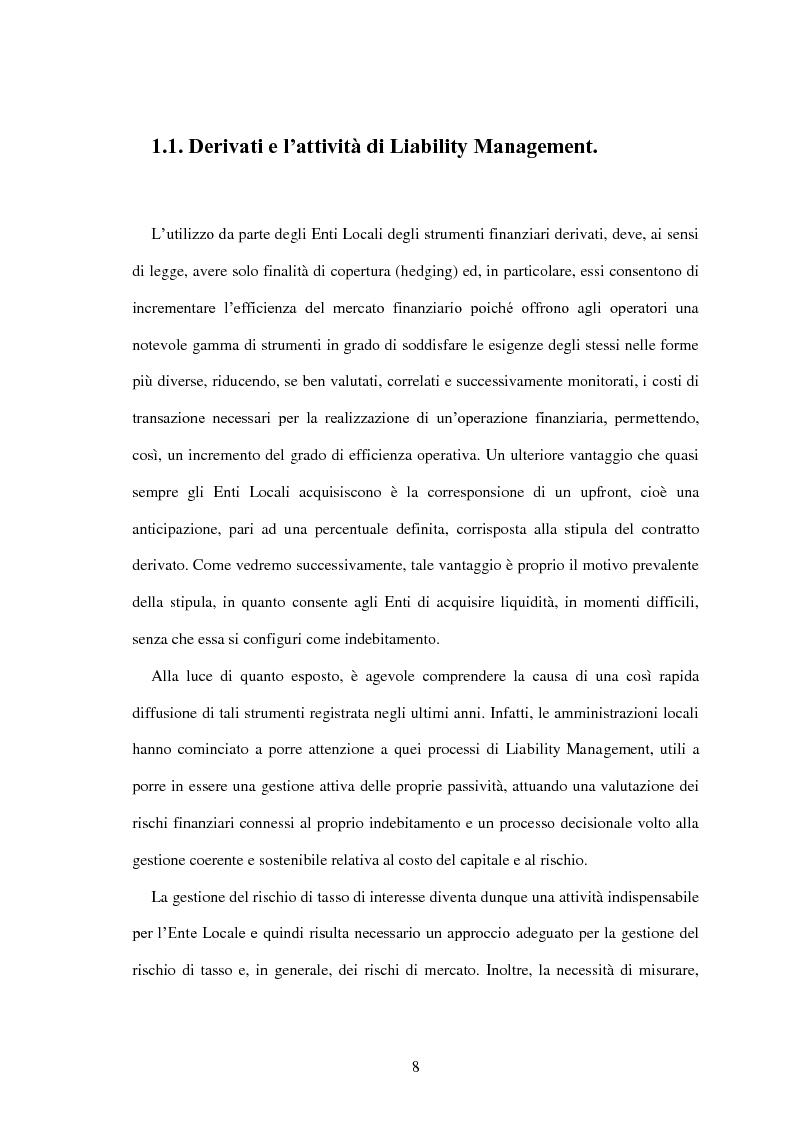 Anteprima della tesi: L'utilizzo dei derivati negli enti locali: opportunità e limiti, Pagina 6